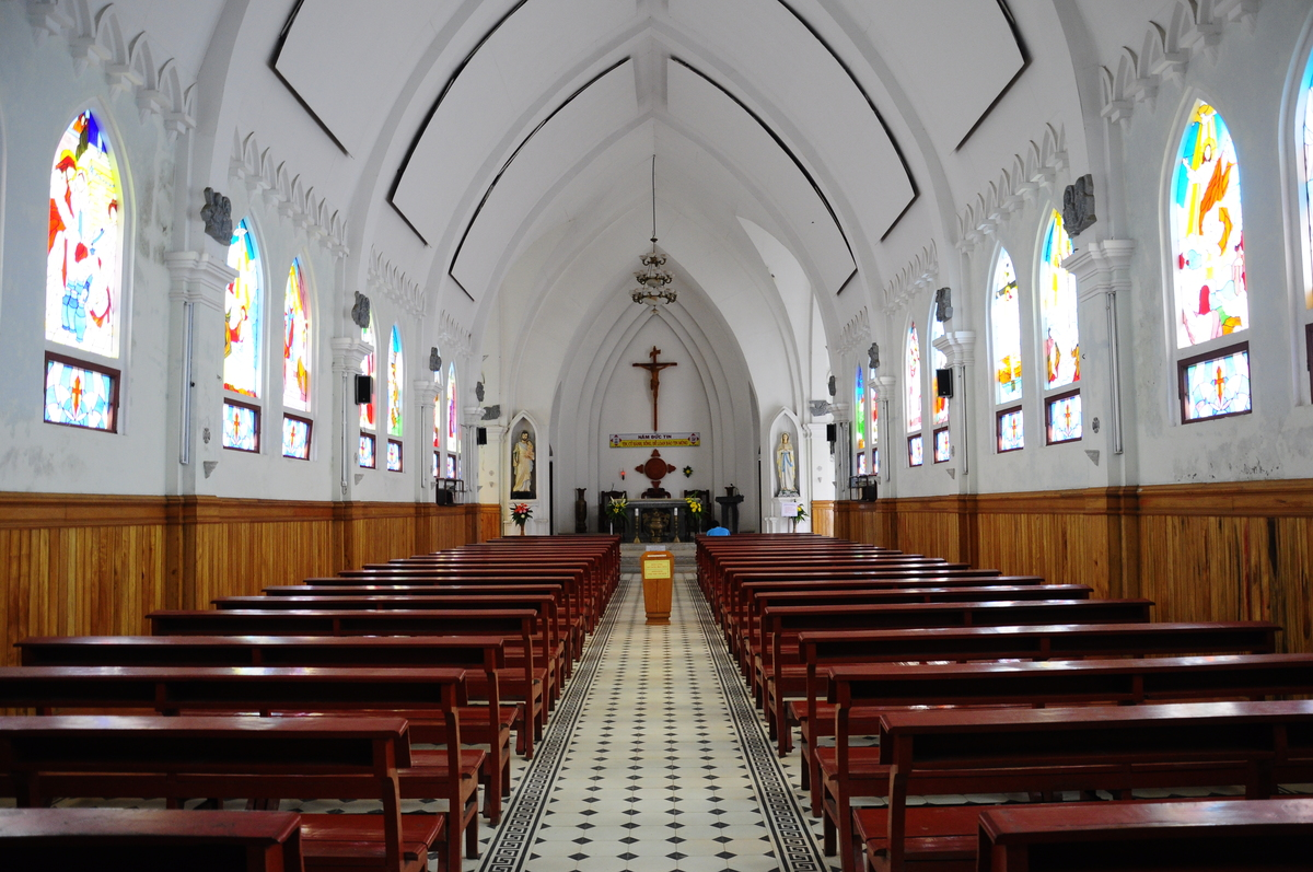 Inside Stock church