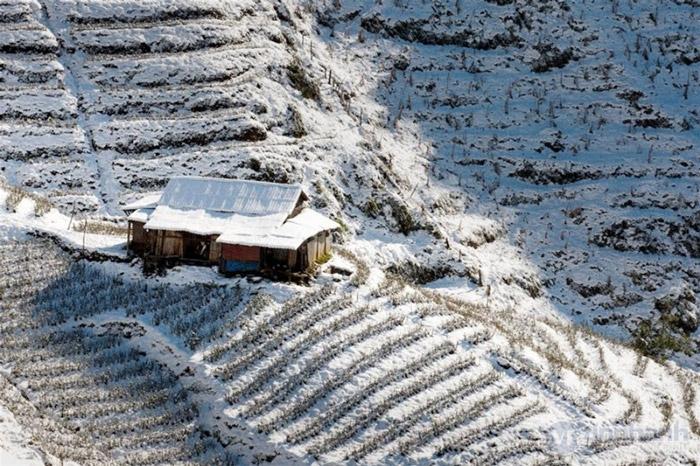 Vẻ đẹp ruộng bậc thang mùa tuyết rơi