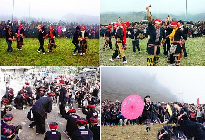 Quang cảnh lễ hội tết nhảy Sapa