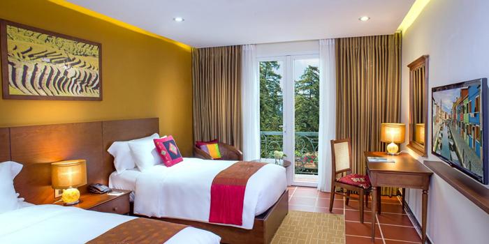 Phòng khách sạn U Sapa được thiết kế sang trọng