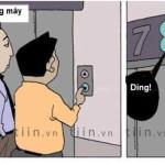 Truyện cười: Đi thang máy