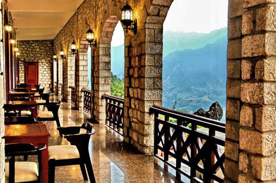 Sảnh khách sạn Bamboo Sapa