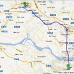Bản đồ đi phượt Sapa bằng xe máy hướng Hà Nội – Lào Cai