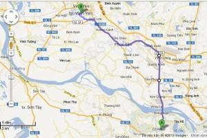 Hà Nội – Vĩnh Phúc (Các bạn đi qua Cầu Thăng Long, tới ngã 4 Tiền Phong rẽ trái hoặc tới ngã 4 Phú Cường rẽ trái đều được
