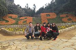 Hình ảnh khách du lịch Sapa