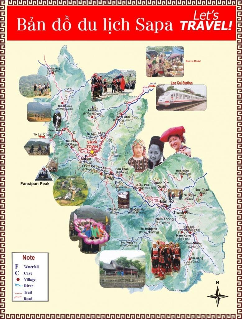 Bản đồ du lịch vùng miền Sapa